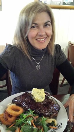 The Baaa Sports Bar and Cafe : best steak ever  great wife also