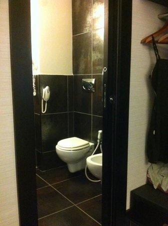 Hotel Caprice: baño perfecto y limpio con secador