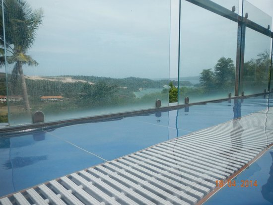 Tanawin Resort and Luxury Apartments: View from the pool