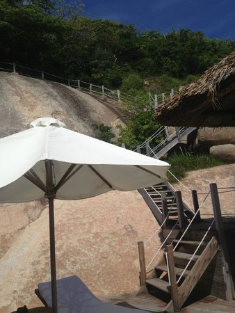 Six Senses Ninh Van Bay : Some of the stair case leading to entrance of Water Pool Villa 5