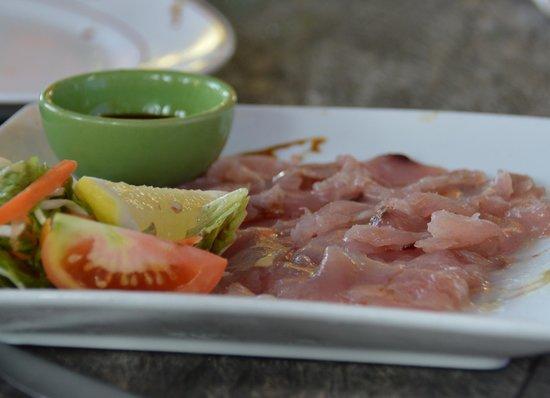Kaz Kreol Restaurant & Beach Club : carpaccio de poisson