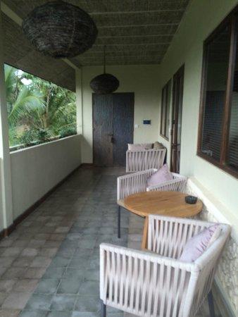 Mathis Retreat: Une terrasse généreuse face aux rizières