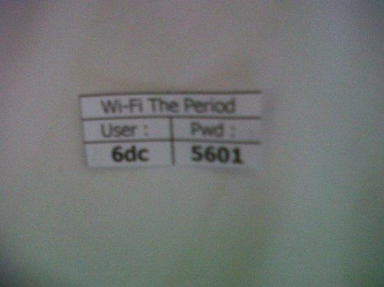 The Period Pratunam: they have wifi