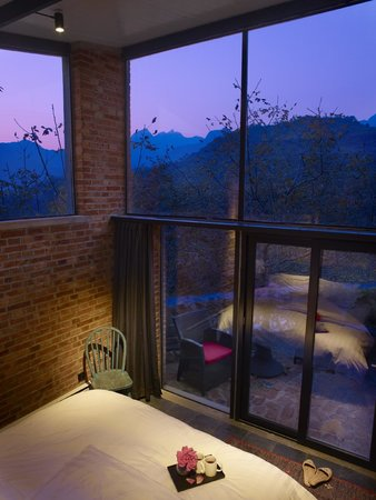 Brickyard Retreat at Mutianyu Great Wall: View from one of our Queen bedrooms.