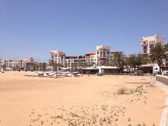 Studiotel afoud: Agadir Beach - 10 minutes walk down to beach from hotel. 10 dirhams (0.60p) in petit taxi