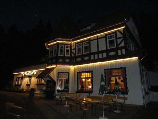 die Obere Schweizerhütte ist auch im Winter noch gut zu sehen...
