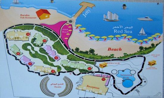 карта отеля Picture Of Concorde Moreen Beach Resort Spa Marsa - Map of egypt marsa alam