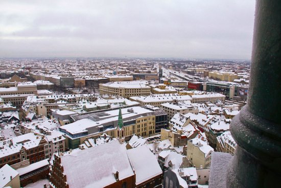 View of Riga from St Peter's Church Tower : Вид на город