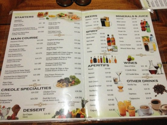 La Goulue : Menù del ristorante
