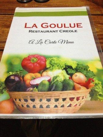 La Goulue: Copertina del Menù