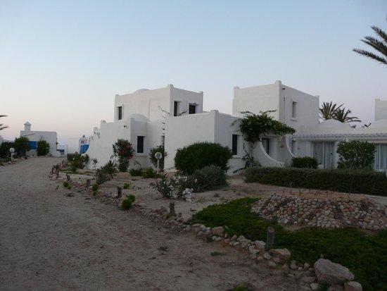 Hotel Al Jazira Beach & Spa : bungalos & jardin.