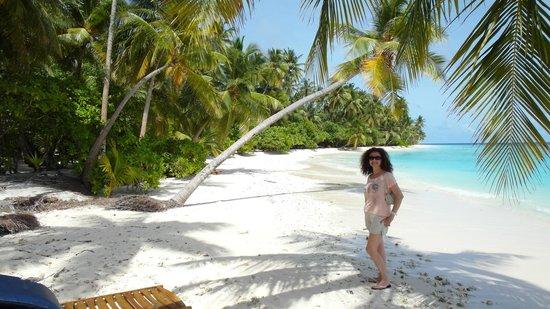Filitheyo Island Resort: En la playa, delante de nuestro bungalow