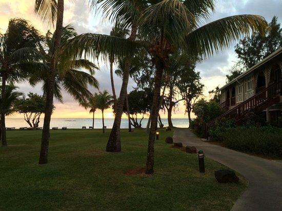 Club Med La Pointe aux Canonniers : Coucher de soleil depuis la chambre