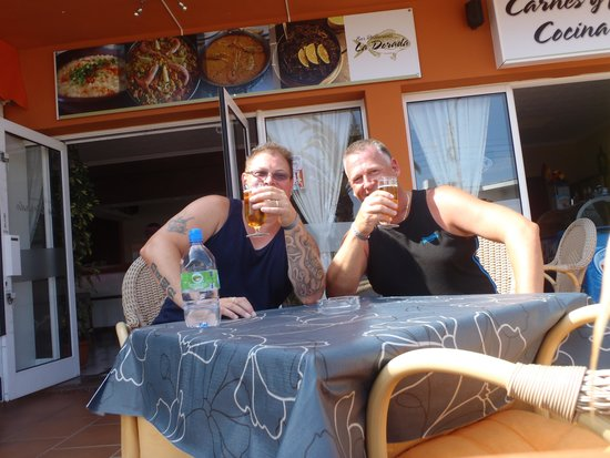 La Dorada: Me and my mate having a cheeky half