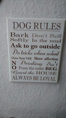 The Sutton Plough: Dog friendly even have there own rules