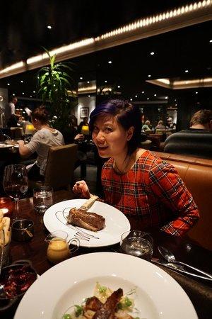 Jervois Steak House Queenstown : Dig in..