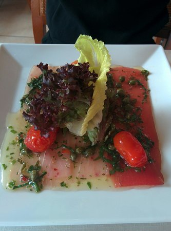 La Gruta : Carpaccio de thon