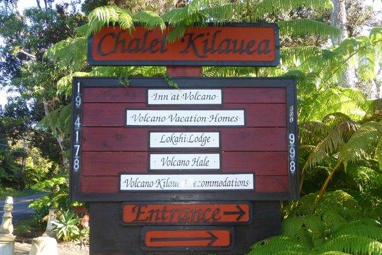 Chalet Kilauea: Gleich nach der Kreuzung rechts halten