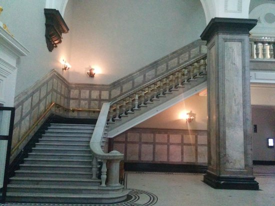 City Hall: Grand marble staircase