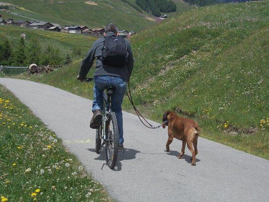 Hotel Concordia: marito e Milla sulla pista ciclabile.