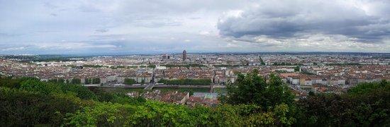 Basilique Notre Dame de Fourviere: view over city