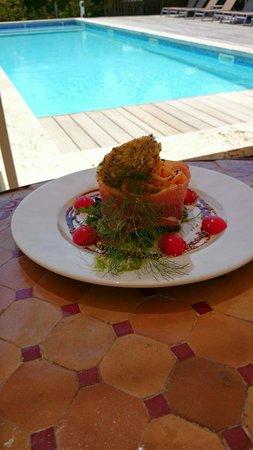 Le Mas de Cocagne: Salade melon jambon cru un vrai régal !!!