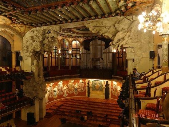 Palais de la Musique Catalane (Palau de la Musica Catalana) : Внутри