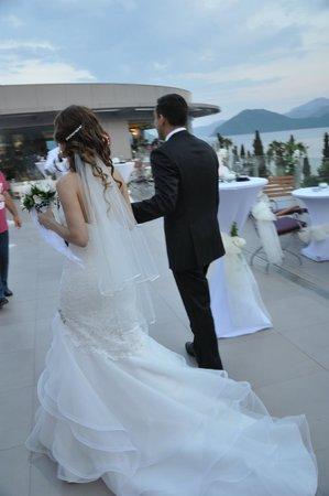 D-Resort Grand Azur: Wedding - Veranda of Steak Bar Restaurant