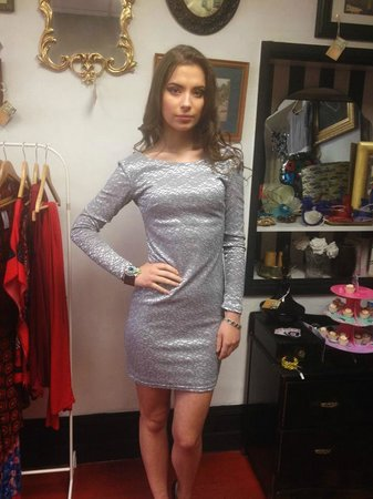 Nor Lisa Fashion Boutique: Silver Dress £35