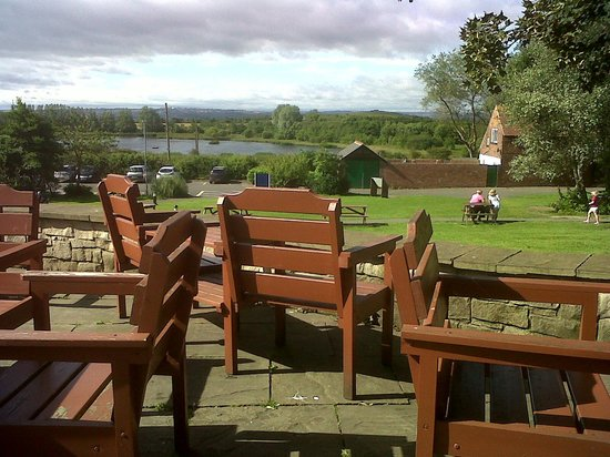 Rising Sun Country Park: View from the terrace.