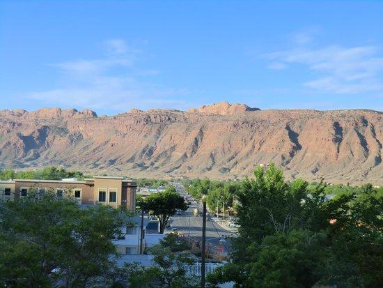 Hampton Inn Moab: Blick nach Süden aus dem dritten Stock beim Aufzug