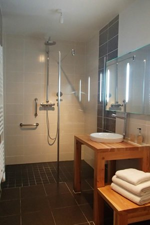 Hôtel Monet : Salle de douche spacieuse