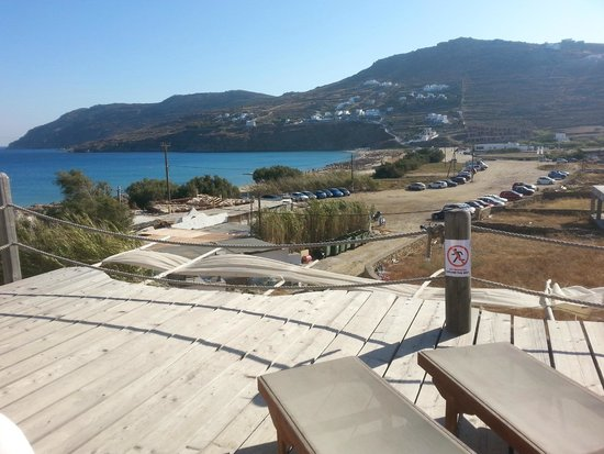Seaside Studios & Houses: Balcony view across the local beach
