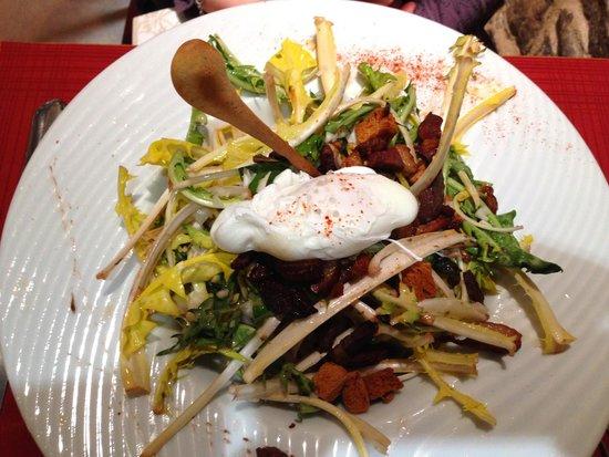 Hotel Auberge du Melkerhof: Salade de Pissenlits maison...
