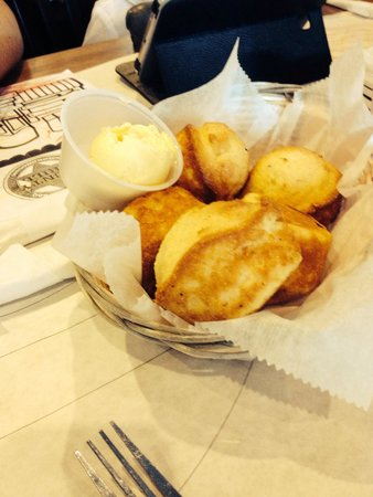 County Grill: Corn muffins starter.