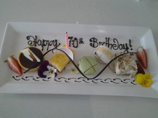 Terraces Restaurant: birthday surprise