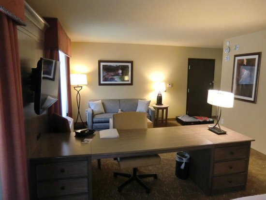 Hampton Inn & Suites Springdale Zion National Park: Suite mit Couch