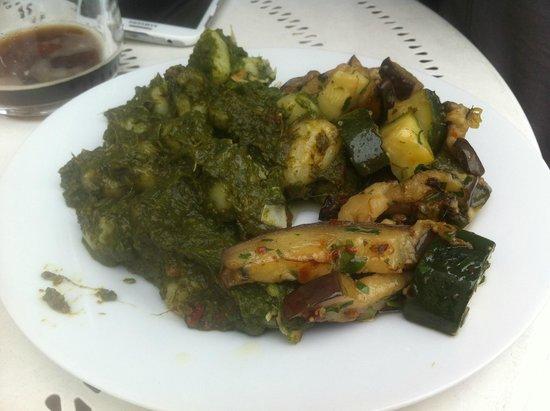 Harvest Cafe Bistrot: Vegan spinach gnocchi & vegetables from Harvet's buffet #2