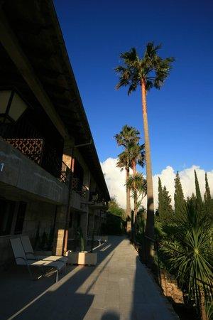 L'Hermitage: Aussicht von der Terrasse
