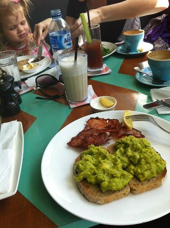 Sea Circus: avocado and bacon on toast