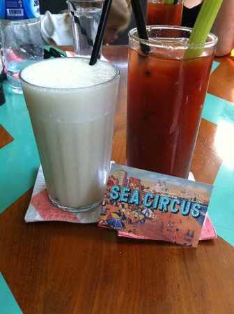Sea Circus: Rock star bloody mary with banana juice chaser