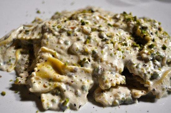 Ristorante Il Castello di Bacco: Pasta con pistachos sin gluten