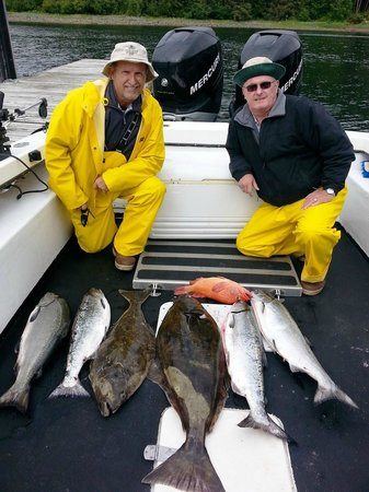 Sitka Point Lodge & Fishing Charters: First day catch.