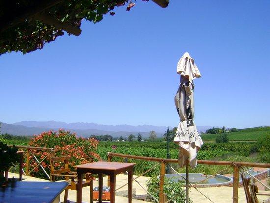 Fraai Uitzicht Restaurant: View from Patio
