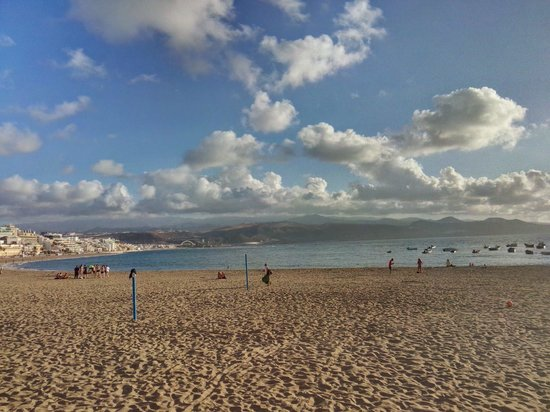 Playa de Las Canteras: Las Canteras ao fim do dia.