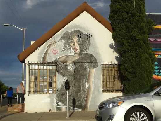 Dessin mural photo de central avenue albuquerque for Dessin mural