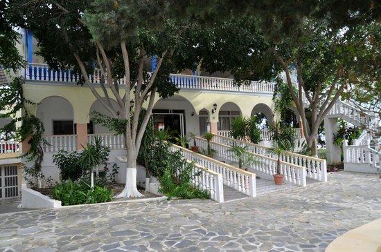 Hotel Pefkos Garden: Отель окружён соснами.