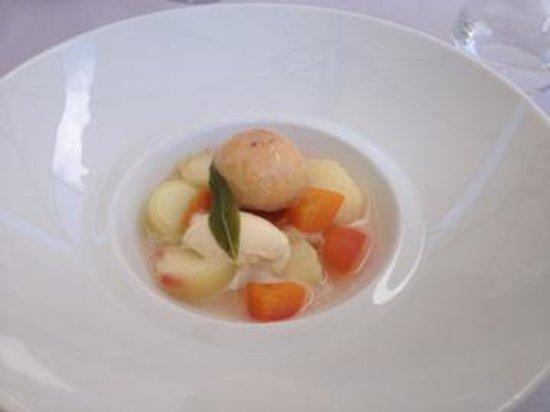 Le Saison : Soupe de pêches blanches et abricots