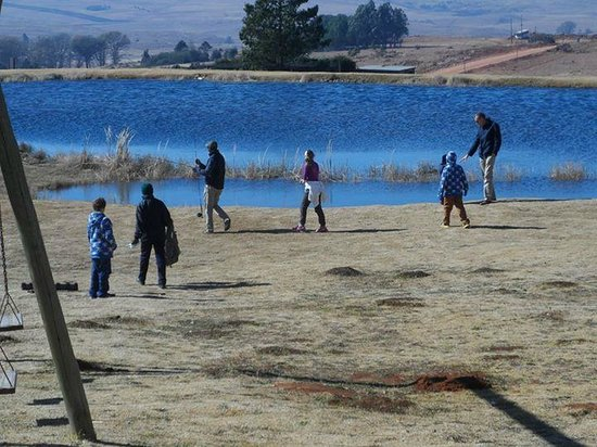 Dullstroom Bird Of Prey & Rehabilitation Centre: View over the Trout dam
