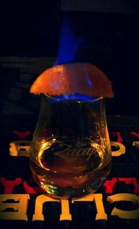 la locanda del mastro birraio : Rum con arancia flambata alla zucchero di canna....